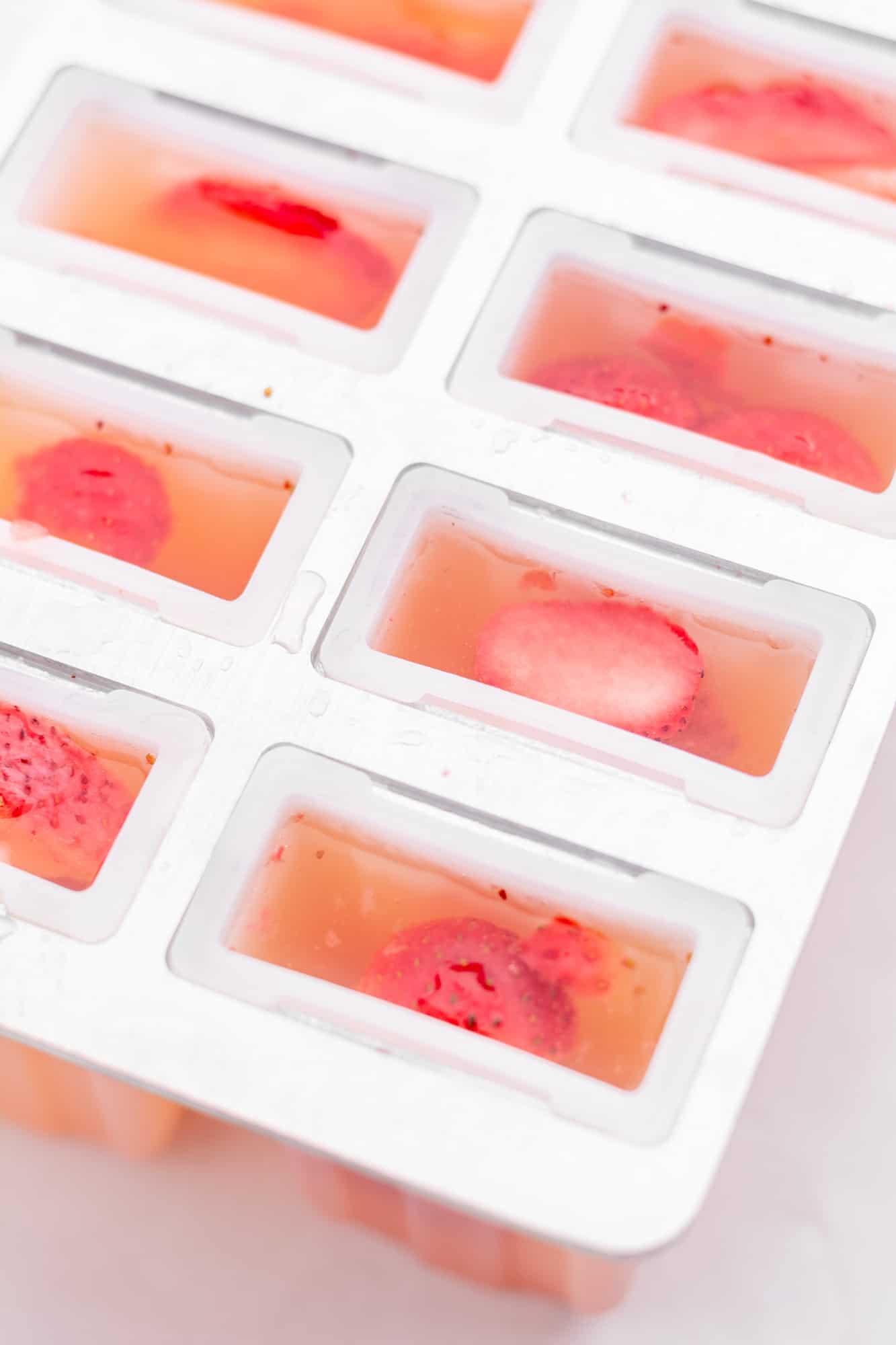 unfrozen popsicles in a mold
