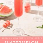 homemade watermelon juice mimosa