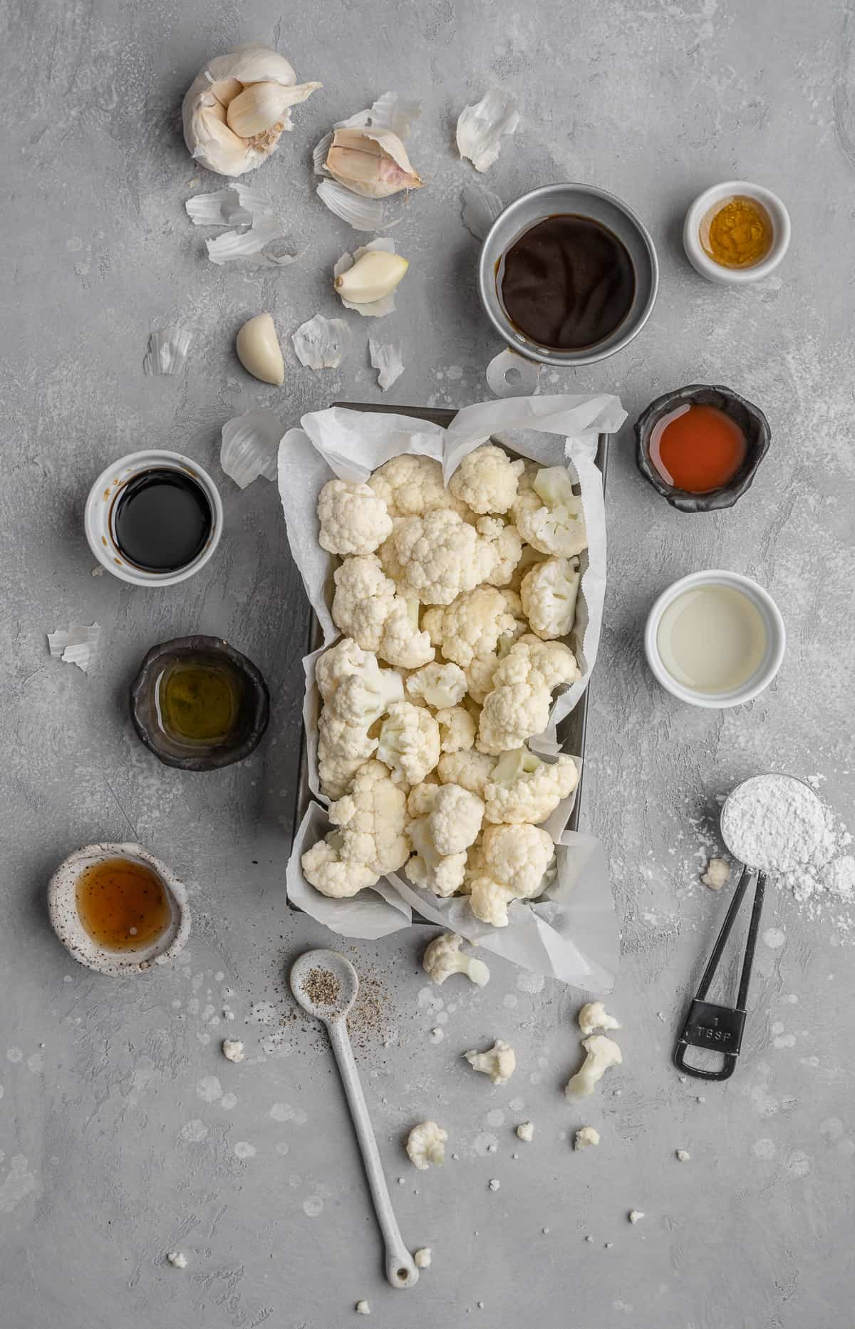 ingredients for kung pao cauliflower