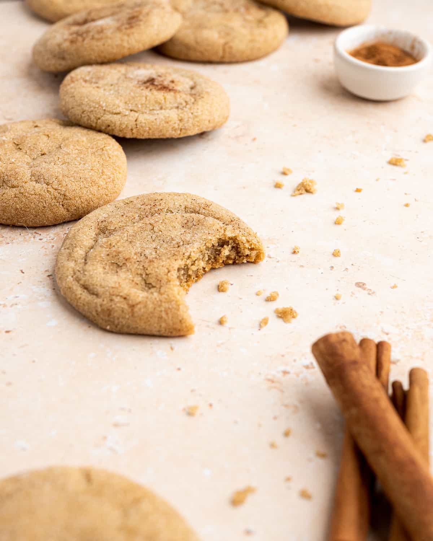 bit into sugar cookie