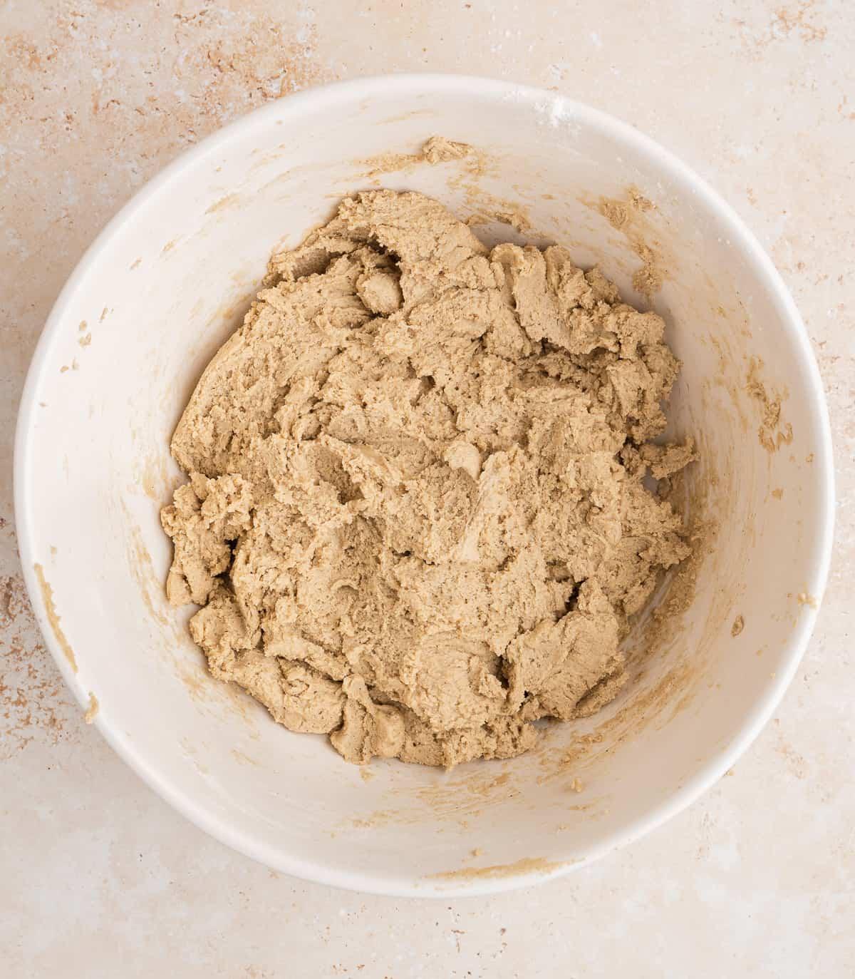 chai spiced brown sugar cookie dough mixed in a bowl