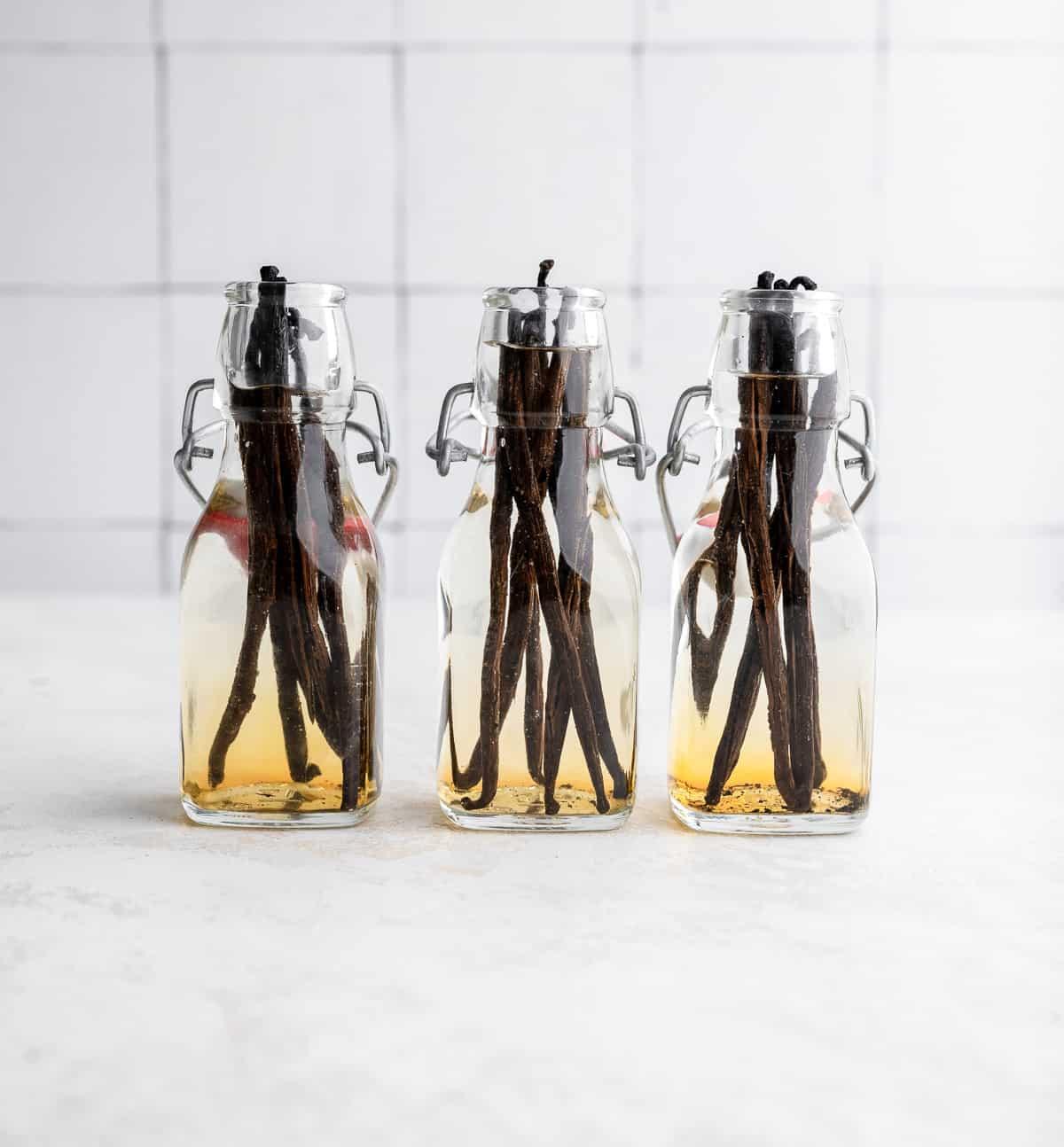 vanilla extract in a jar